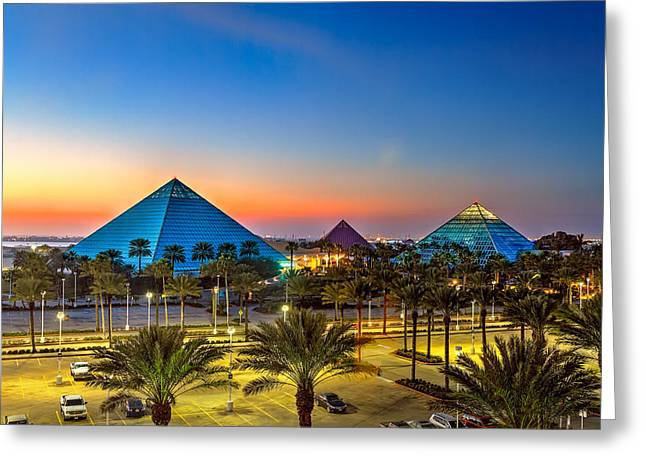Evening Pyramids Greeting Card