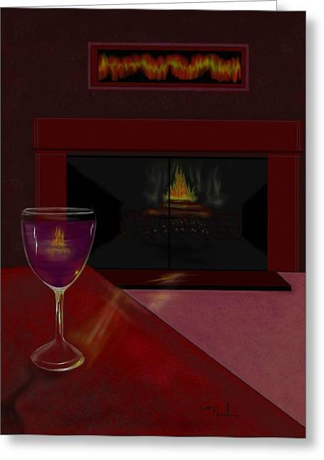 Evening Reflection Greeting Card by William  Paul Marlette
