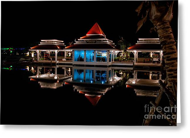 Evening Reflections Greeting Card by Adrian Evans
