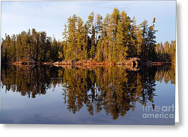 Evening Reflections On Snipe Lake 1 Greeting Card