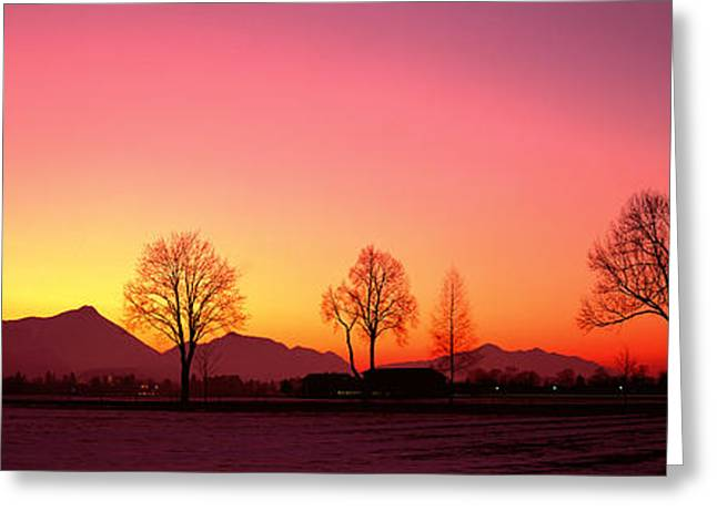 Evening, Schwangau, Germany Greeting Card by Panoramic Images