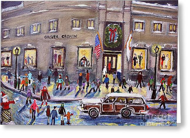 Evening Shopping At Grover Cronin Greeting Card