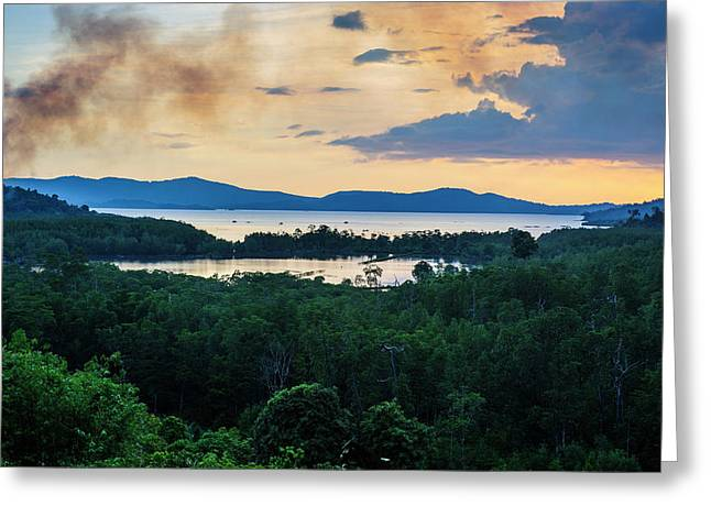 Evening Shot From The Lakes Greeting Card by Michael Runkel