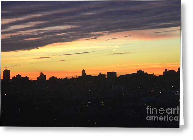 Evening Sky Greeting Card by Robert Daniels