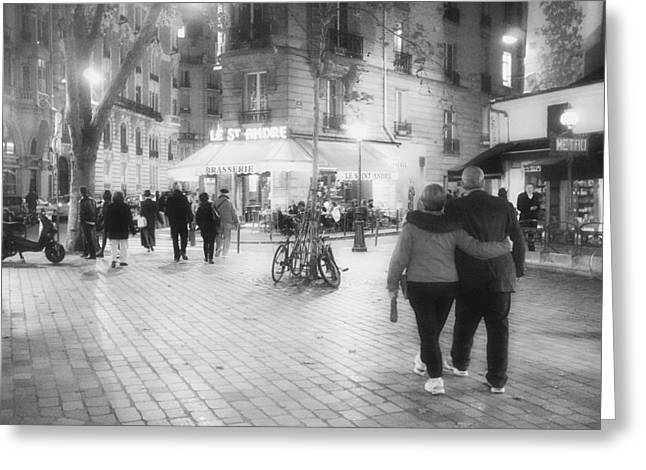 Evening Stroll In Paris Greeting Card