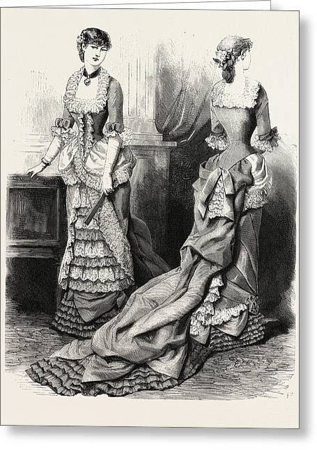 Evening Toilette Front And Back,  Fashion Greeting Card