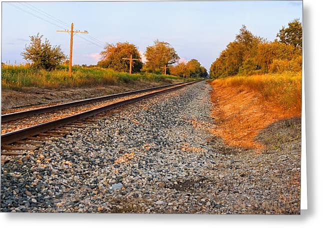 Evening Tracks Greeting Card
