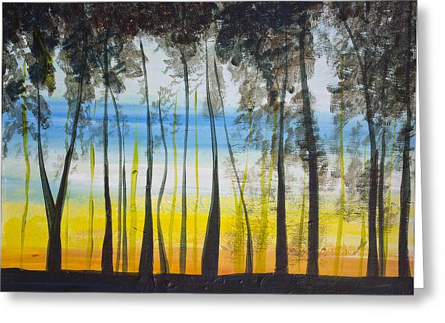 Evening Trees Greeting Card