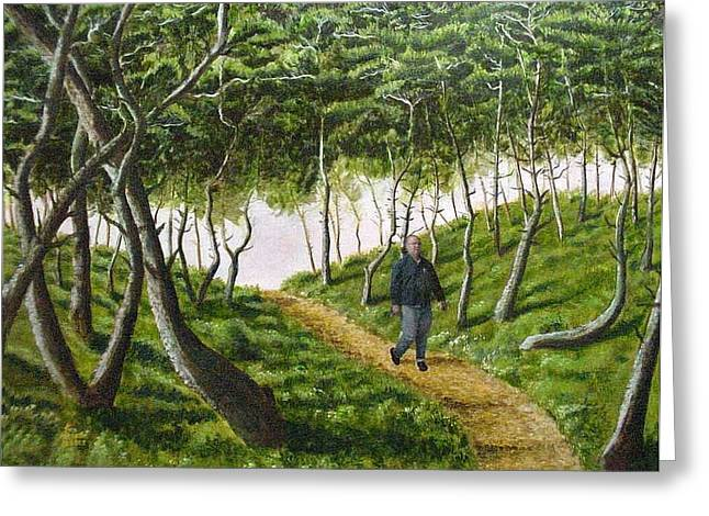 Evening Walk Greeting Card by Kenny Henson