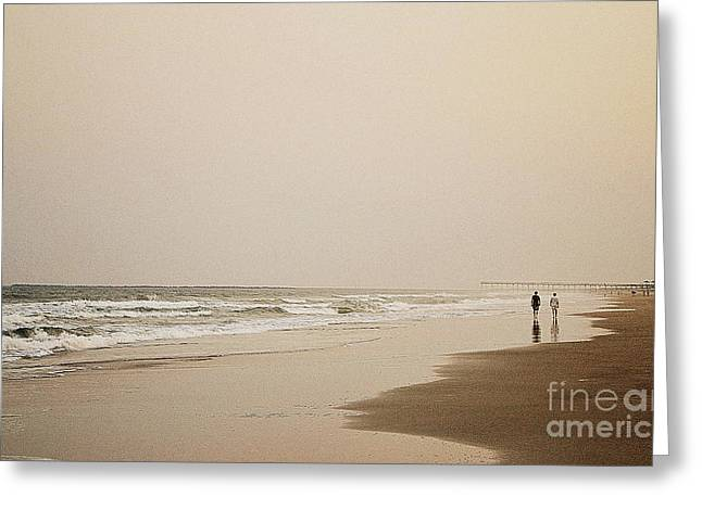 Evening Walk On Wrightsville Beach Greeting Card