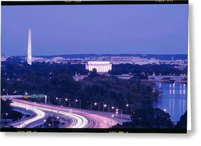 Evening Washington Dc Greeting Card