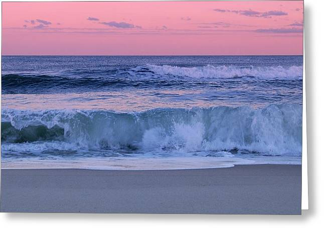 Evening Waves - Jersey Shore Greeting Card