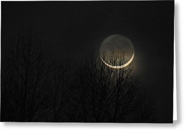 Evening Waxing Crescent Moon Greeting Card