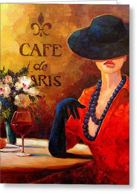 Evening Wine Greeting Card by Kanayo Ede