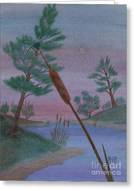 Evening Wish Greeting Card by Robert Meszaros