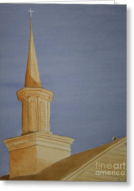 Evening Worship Greeting Card by Stacy C Bottoms