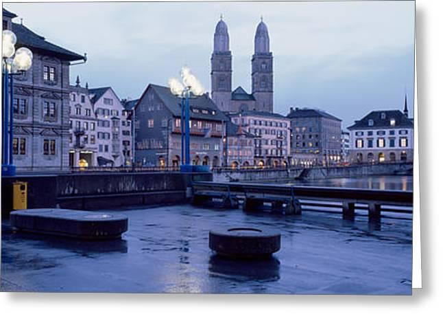 Evening, Zurich, Switzerland Greeting Card
