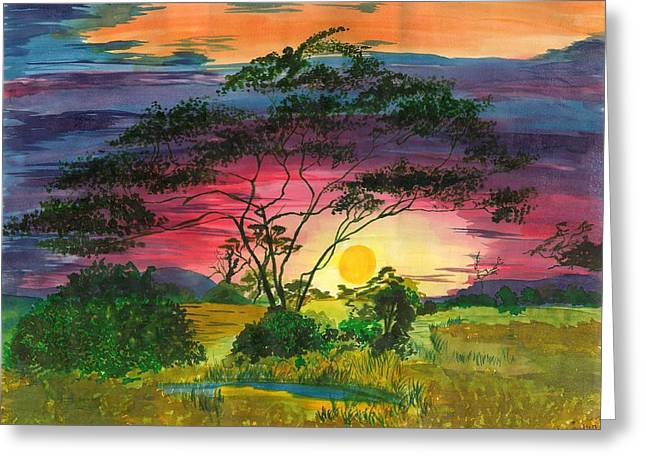 Evenings Bliss Greeting Card