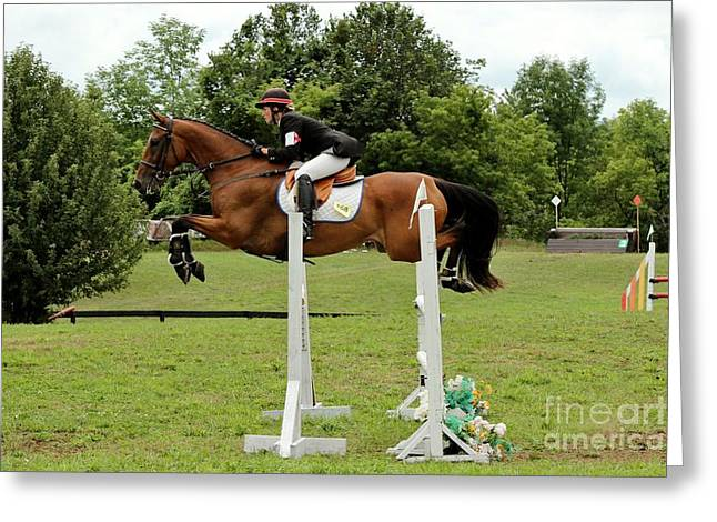 Eventing Jumper Greeting Card