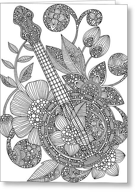 Ever Banjo Greeting Card by Valentina Harper