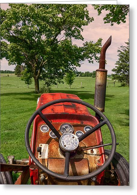 Greeting Card featuring the photograph Ever Drive A Tractor by Garvin Hunter