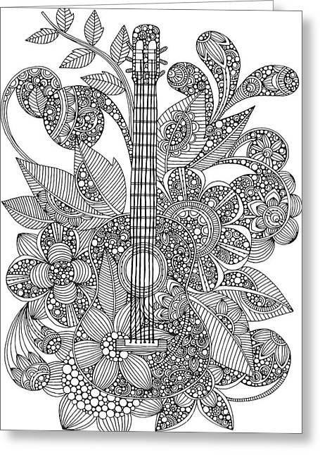 Ever Guitar Greeting Card by Valentina Harper