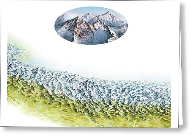 Everest Mountain Group Greeting Card