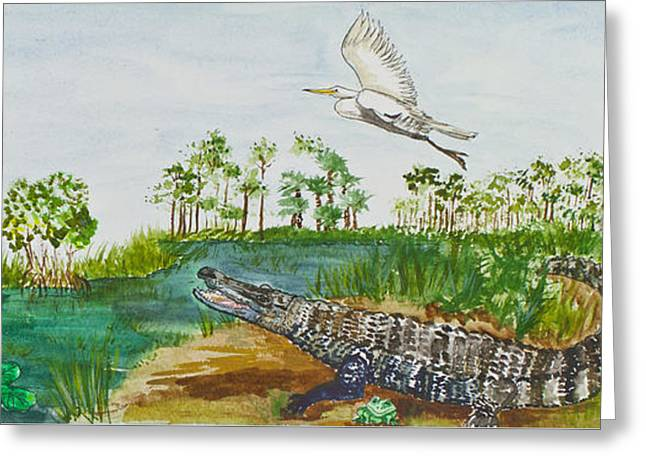 Everglades Critters Greeting Card by Janis Lee Colon