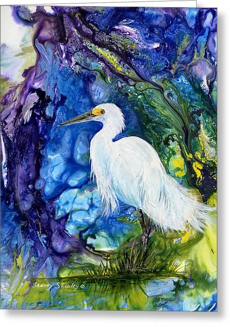 Everglades Fantasy Greeting Card