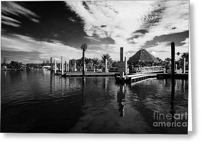 Everglades Isle Marina In The Florida Everglades Usa Greeting Card by Joe Fox