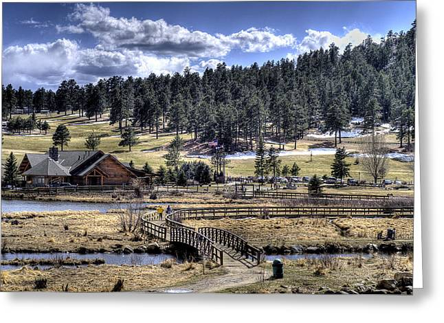 Evergreen Colorado Lakehouse Greeting Card by Ron White