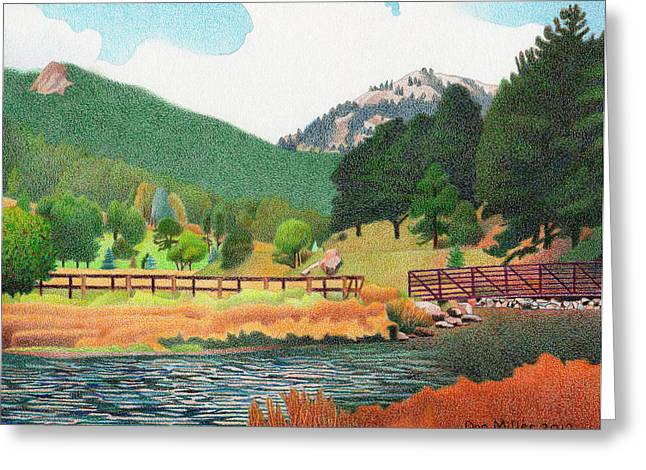 Evergreen Lake Spring Greeting Card