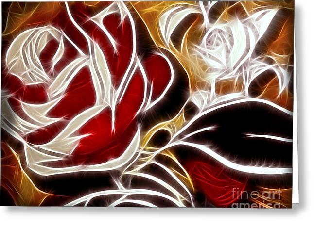 Everlasting Rose Greeting Card by Lutz Baar
