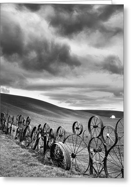 Every Wheel Has A Story Greeting Card by Ryan Manuel