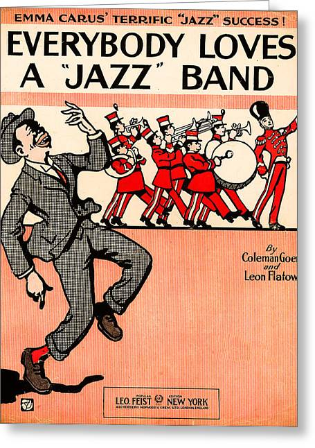 Everybody Loves A Jazz Band Greeting Card by Bill Cannon