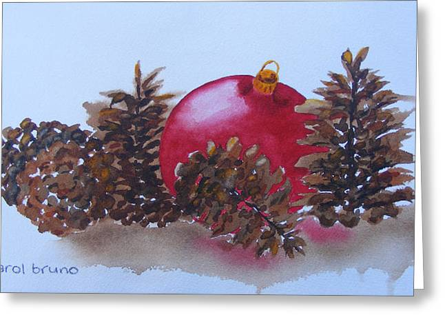 Everyone's Welcome At Christmas Greeting Card by Carol Bruno