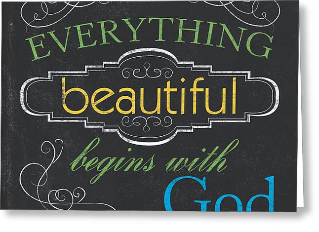 Everything Beautiful Greeting Card by Debbie DeWitt