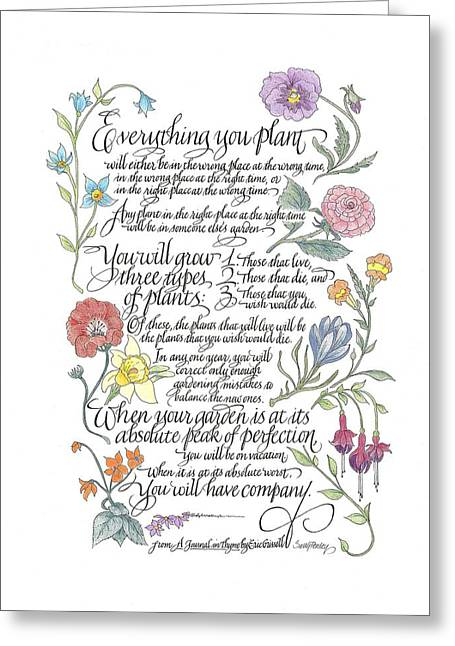 Everything You Plant Greeting Card
