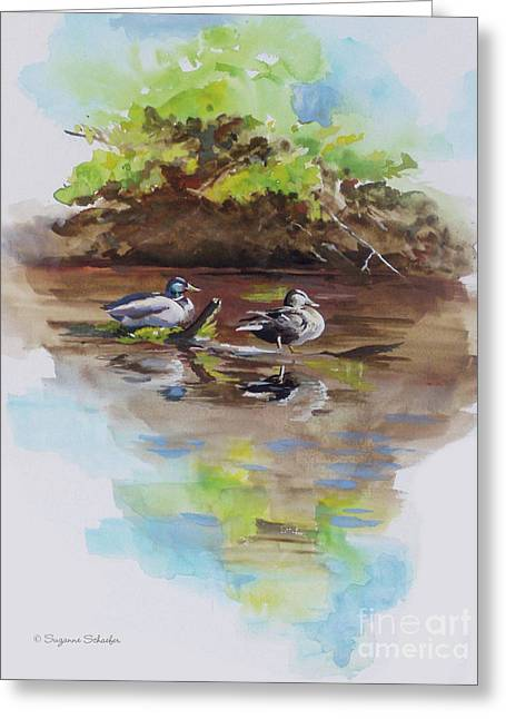 Everythings Just Ducky Greeting Card by Suzanne Schaefer