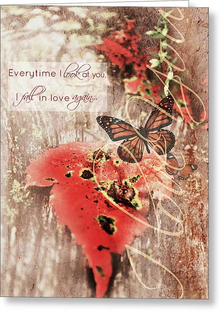 Everytime I Look At You Greeting Card by Chastity Hoff