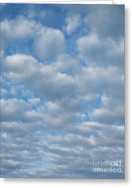 Everywhere - Clouds Greeting Card by Margaret McDermott