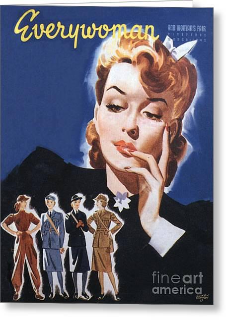Everywoman 1942 1940s Uk Womens Greeting Card