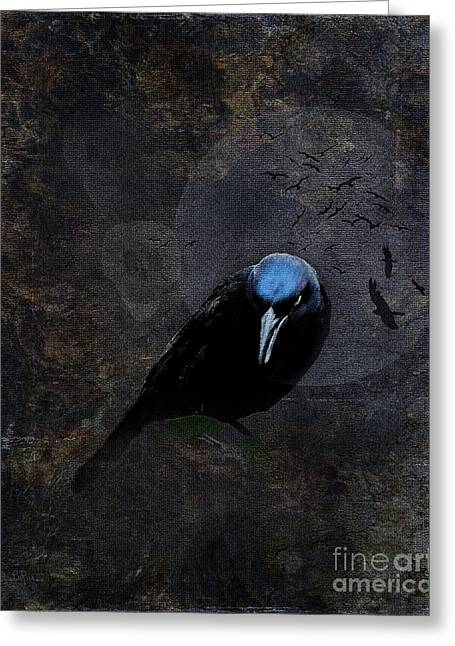 Evil Greeting Card by Betty LaRue