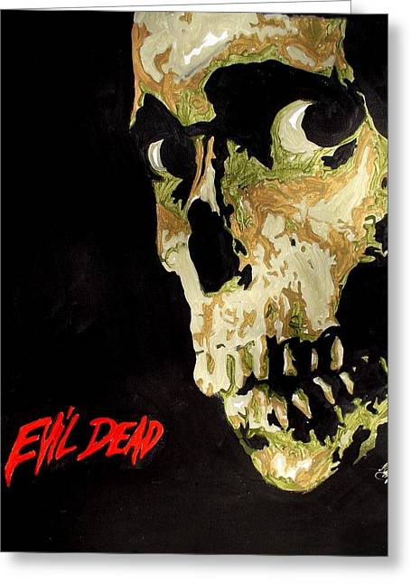 Evil Dead Skull Greeting Card
