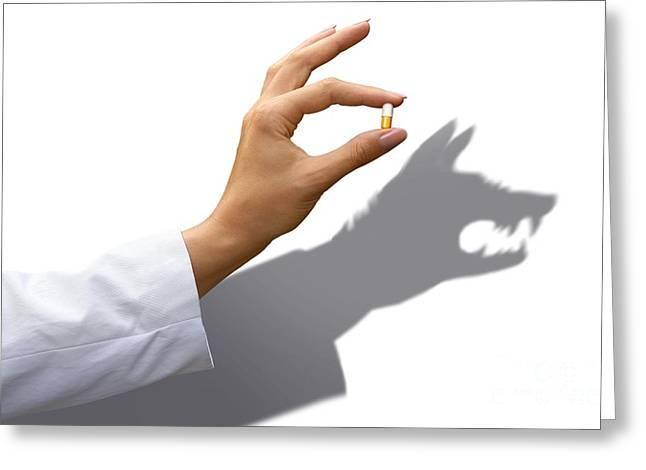 Evil Drug Company, Conceptual Image Greeting Card