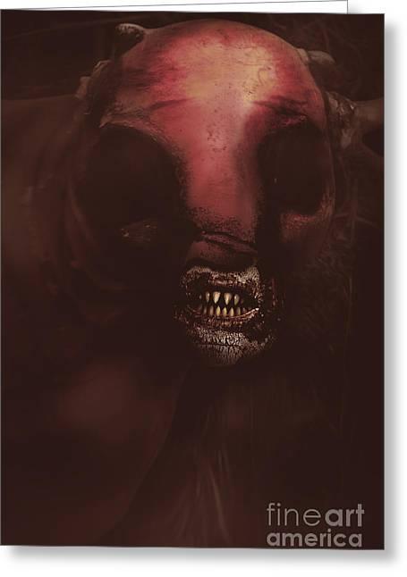 Evil Greek Mythology Minotaur Greeting Card by Jorgo Photography - Wall Art Gallery