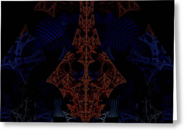 Evil Lurks In The Darkness Greeting Card by Ricky Jarnagin