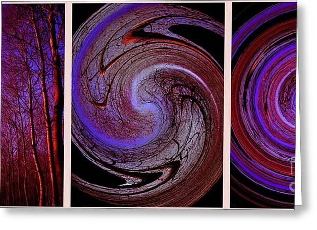 Evolution De La Foret En Spirale Greeting Card by Jessie Art