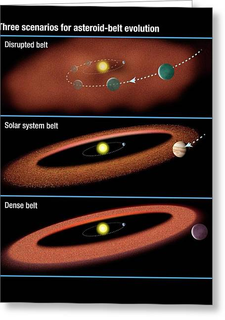 Evolution Of Asteroid Belts Greeting Card by Nasa/esa/stsci