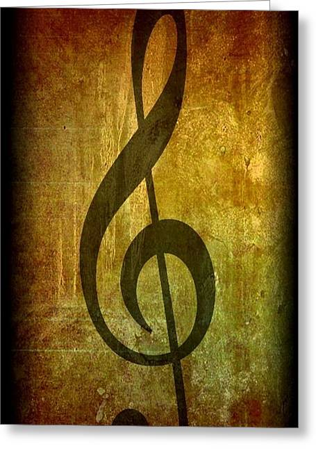 Evolution Of Music Greeting Card by Michael Grubb